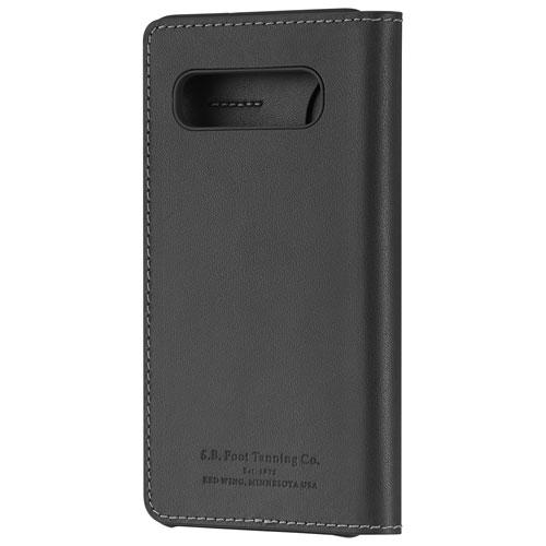 Platinum Series PT-MGS10PLWFB-C Fitted Hard Shell Folio Case for Galaxy S10+ - Black Leather (New Other)
