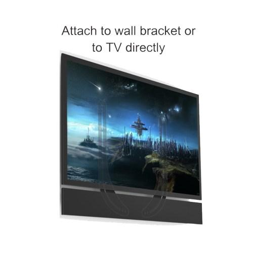 "Brateck SB-39 Sound Bar Bracket for Mounting Above or Under 32""-70"" TVS.  (Compatible with most SONOS, SONY & VIZIO Sound Bars)"