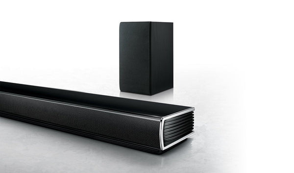 LG SH5B 320W 2.1ch Sound Bar with Wireless Su6bwoofer  _ Brown box