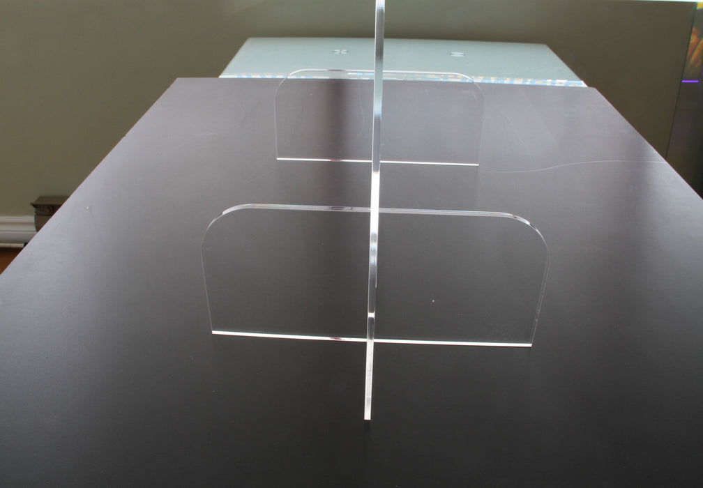 "BSG‐4832 48"" x 32"" 4.2mm-thick Clear Countertop Sneeze Shield with Transaction Slot (New)"
