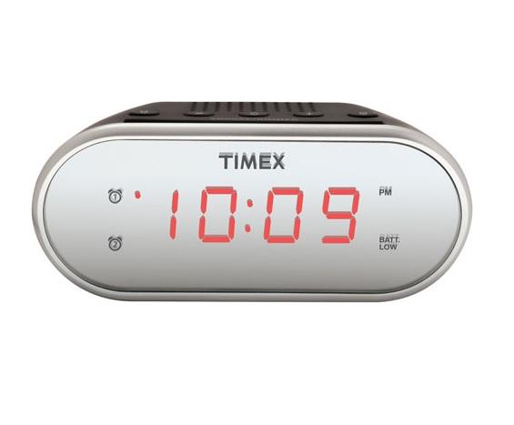 Timex T124BC Mirror Dual Alarm Clock Radio - Black (Open Box)
