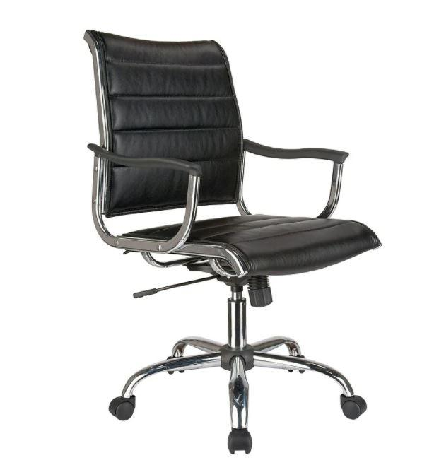 TygerClaw TYFC2003 Mid Back Bonded Leather Office Chair (Assembled)