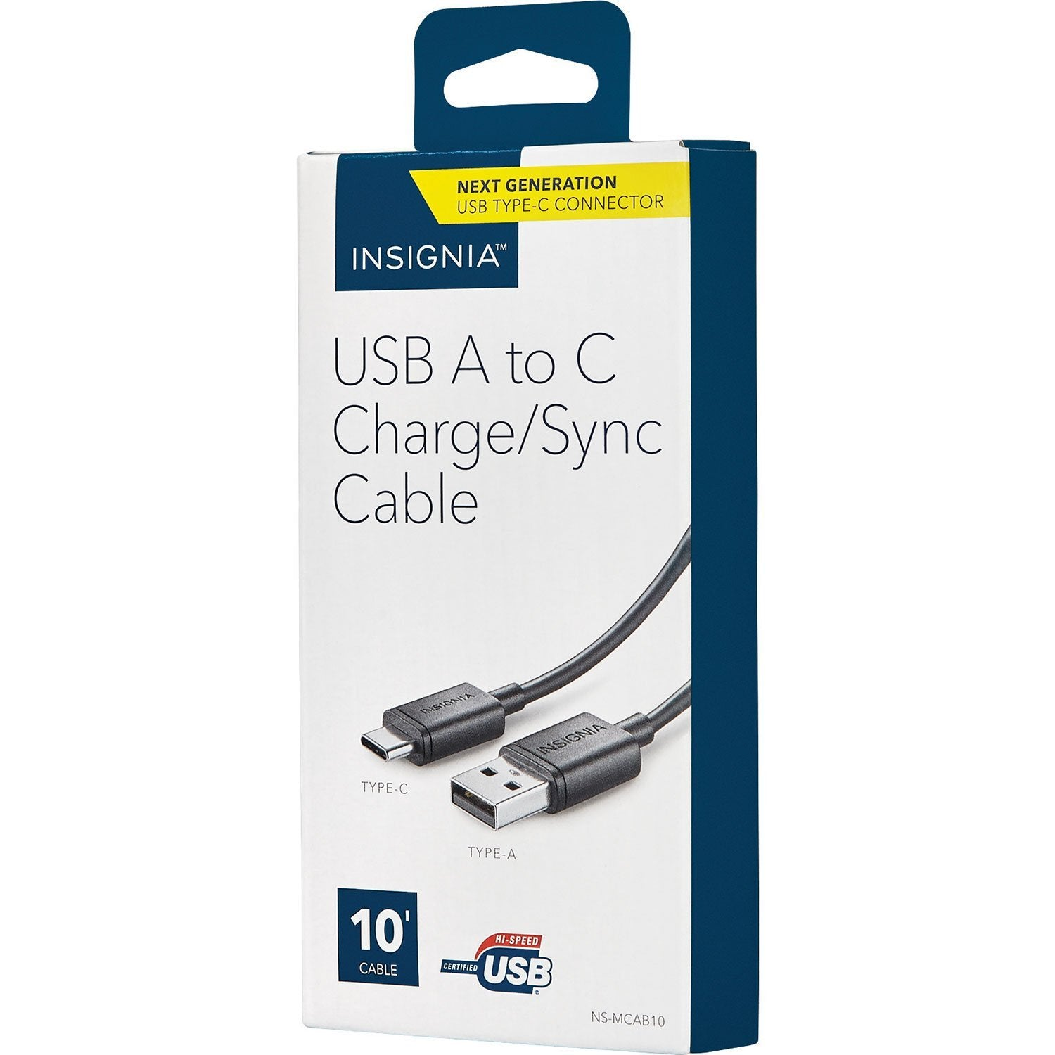 Insignia Cables/Connectors Insignia NS-MCAB10-C 3.05m (10 ft.) USB 2.0 to USB-C Charge/Sync Cable (Open Box)