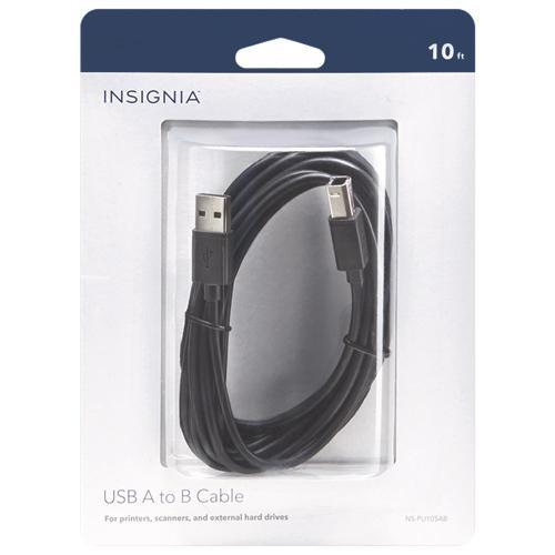 Insignia Cables/Connectors Insignia NS-PU105AB-C 3m (10 ft.) USB A/B Cable (Open Box)