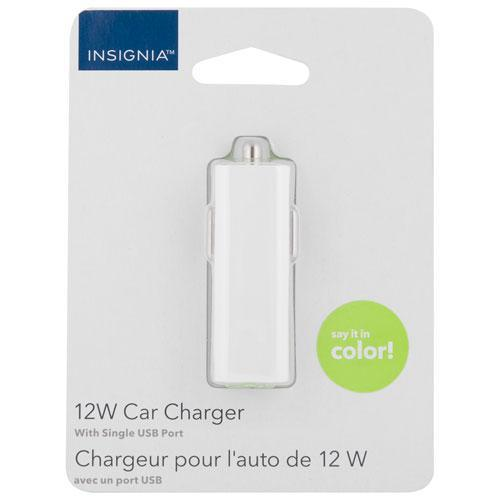 Insignia Cell Phone Accessories Insignia 12-Watt USB Car Charger _  NS-MDCU-9C  (Open Box)