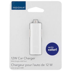 Insignia Cell Phone Accessories Insignia NS-MDCU-10C 12-Watt USB Car Charger (Open Box)
