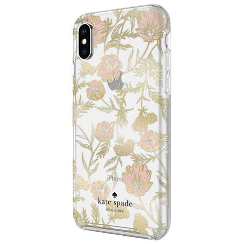 kate spade KSiPH-076-BPKGG new york Fitted Hard Shell Case for iPhone X/XS - Clear/Gold/Pink (New Other)