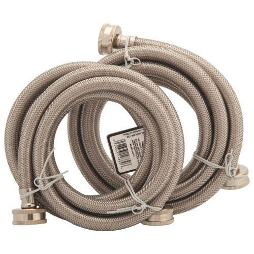 Partsmaster Appliance Accessories Partsmaster PMWSS-6 6 ft. Washer Hoses - 2 Pack (Open Box)