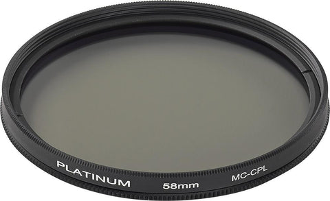Platinum Series Camera/Camcorder Accessories Platinum PT-MCCP58-C 58mm Camera Polarizing Filter (Open Box)