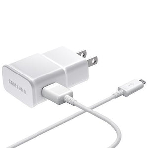 Samsung Cell Phone Accessories Samsung EP-TA20JWEUGCA Samsung 0.75m (2.4 ft.) Adaptive Fast Charging Micro USB Wall Charger (Open Box)