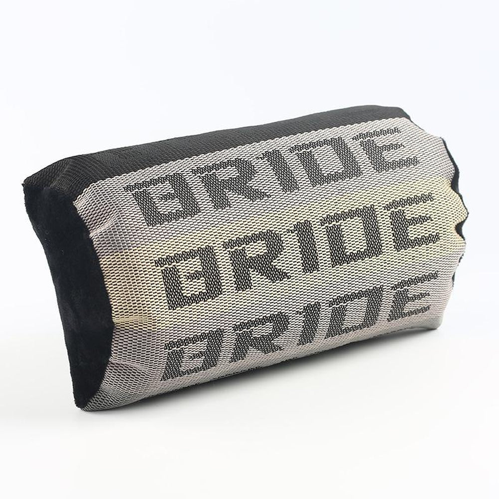 Bride Racing Car Pillow headrest. JDM Plush cushion made of authentic racing material.