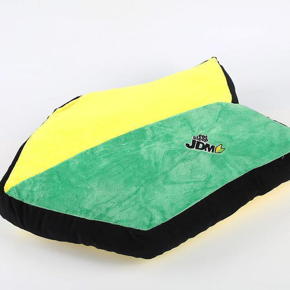 Eat Sleep JDM Wakaba Leaf Car Pillow. JDM Plush Cushion.