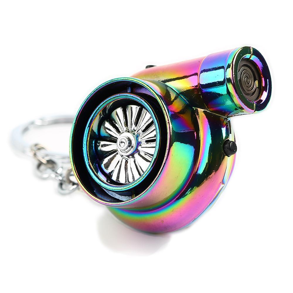 Electric Turbo Lighter - Car Keychain - JDM Key Ring - Neochrome