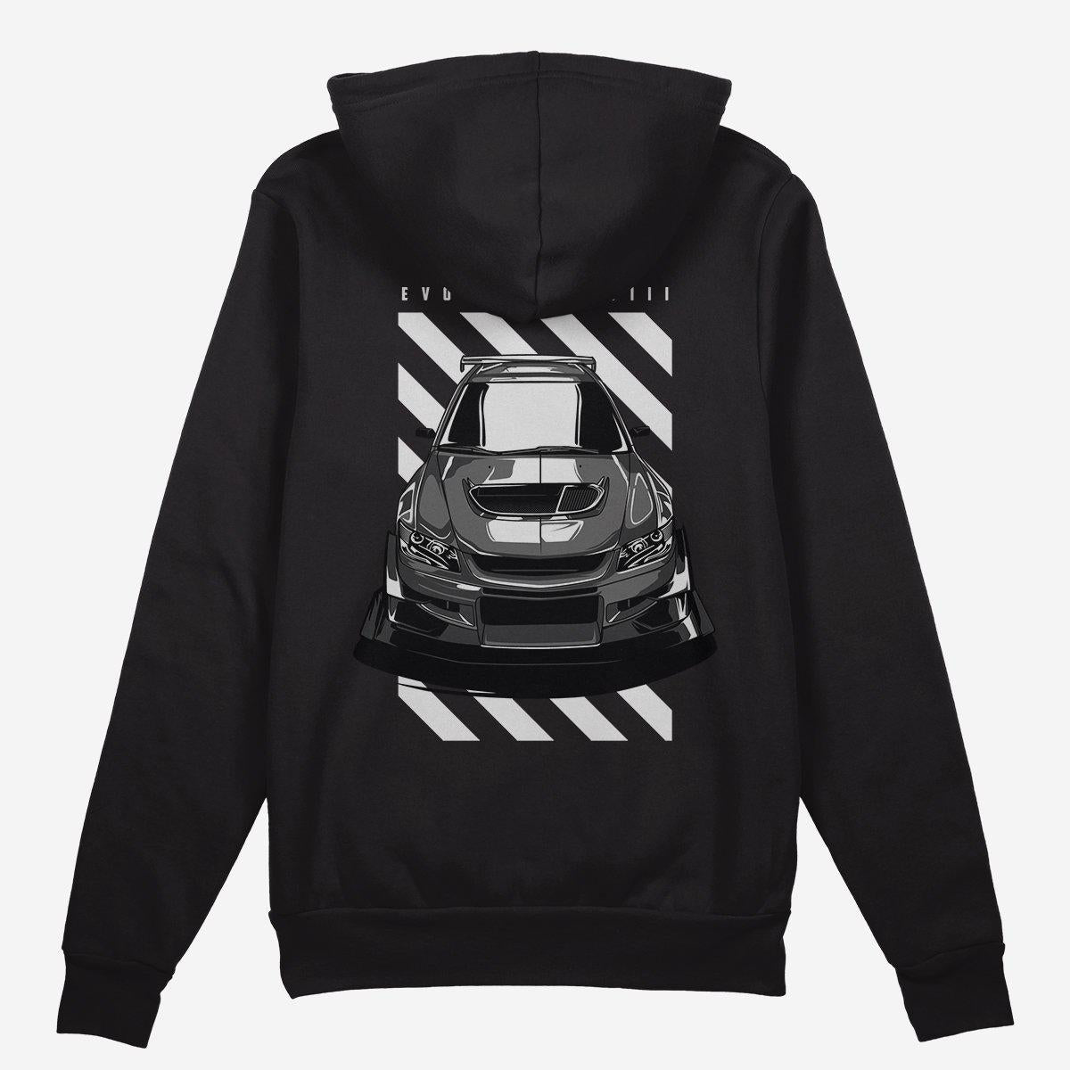 Mitsubishi Lancer Evolution VIII - Car Hoodie - Black.