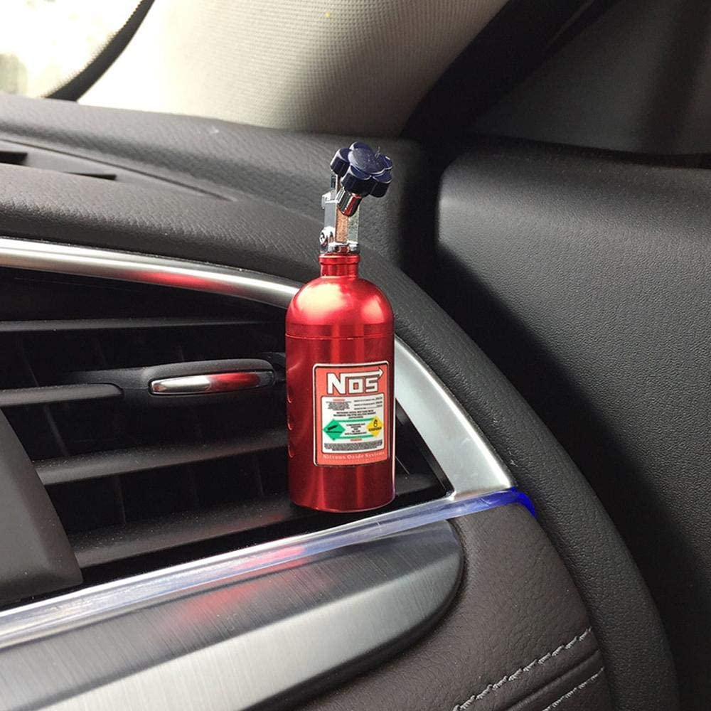 NOS Bottle Car Air Freshener and perfume in red. Lemon, strawberry, grapes, and grapefruit scents.