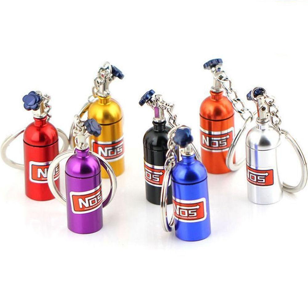 NOS Bottle - Car Keychain - JDM Key Ring -
