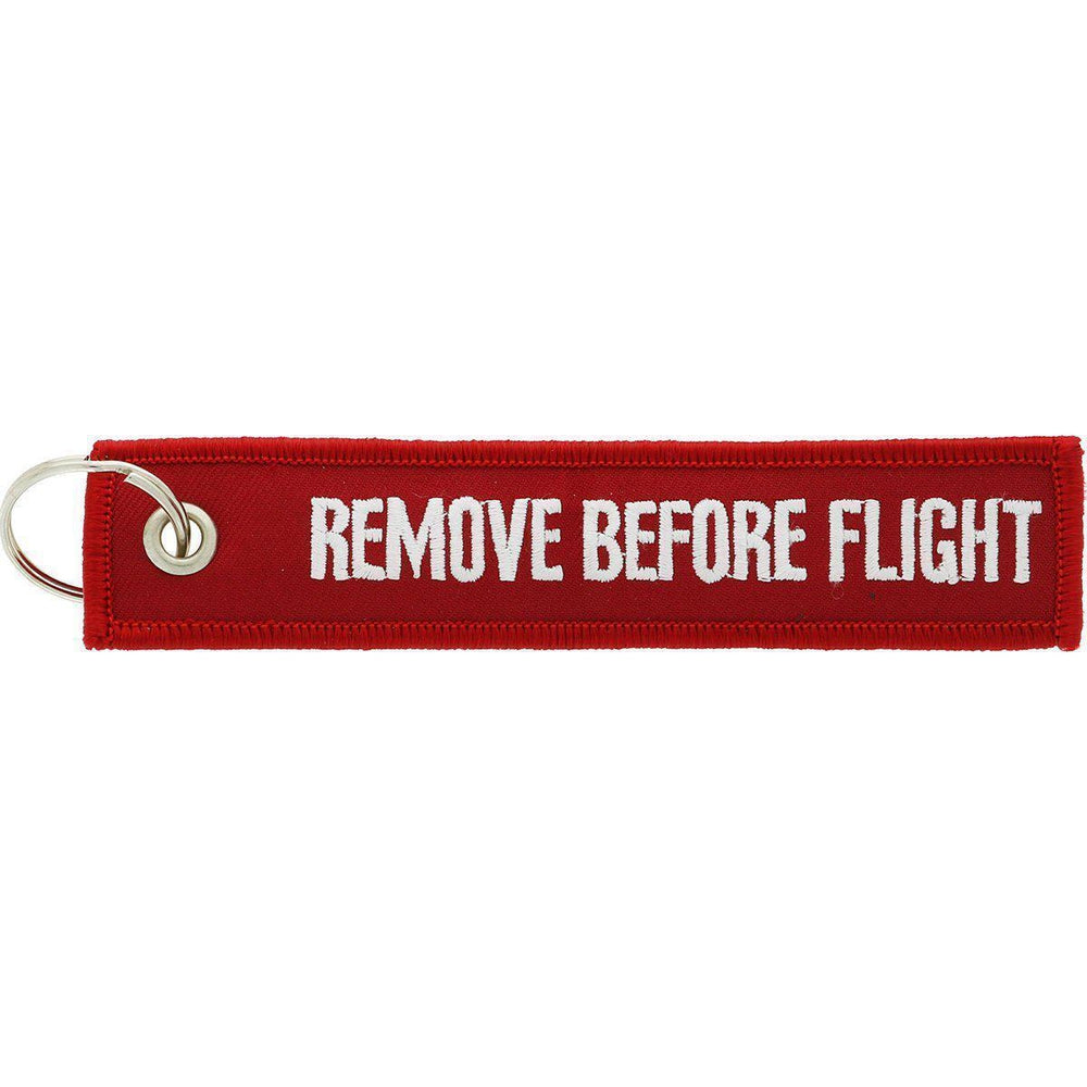 Remove Before Flight - Car Key Tag - Embroidered on both sides - Car and JDM Accessories