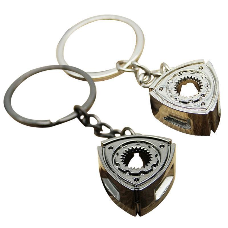 Rotary Engine Centerpiece - Car Keychain - JDM Key Ring -