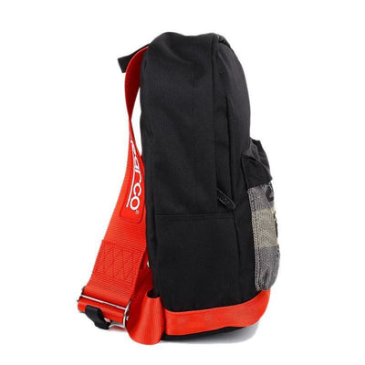 SP Backpack - Fully Red Racing Harness Straps - jdm - bride - leather bottom