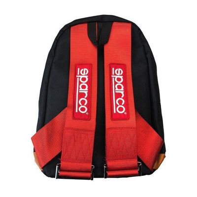 SP Backpack - Red Racing Harness Straps - jdm - bride - leather bottom