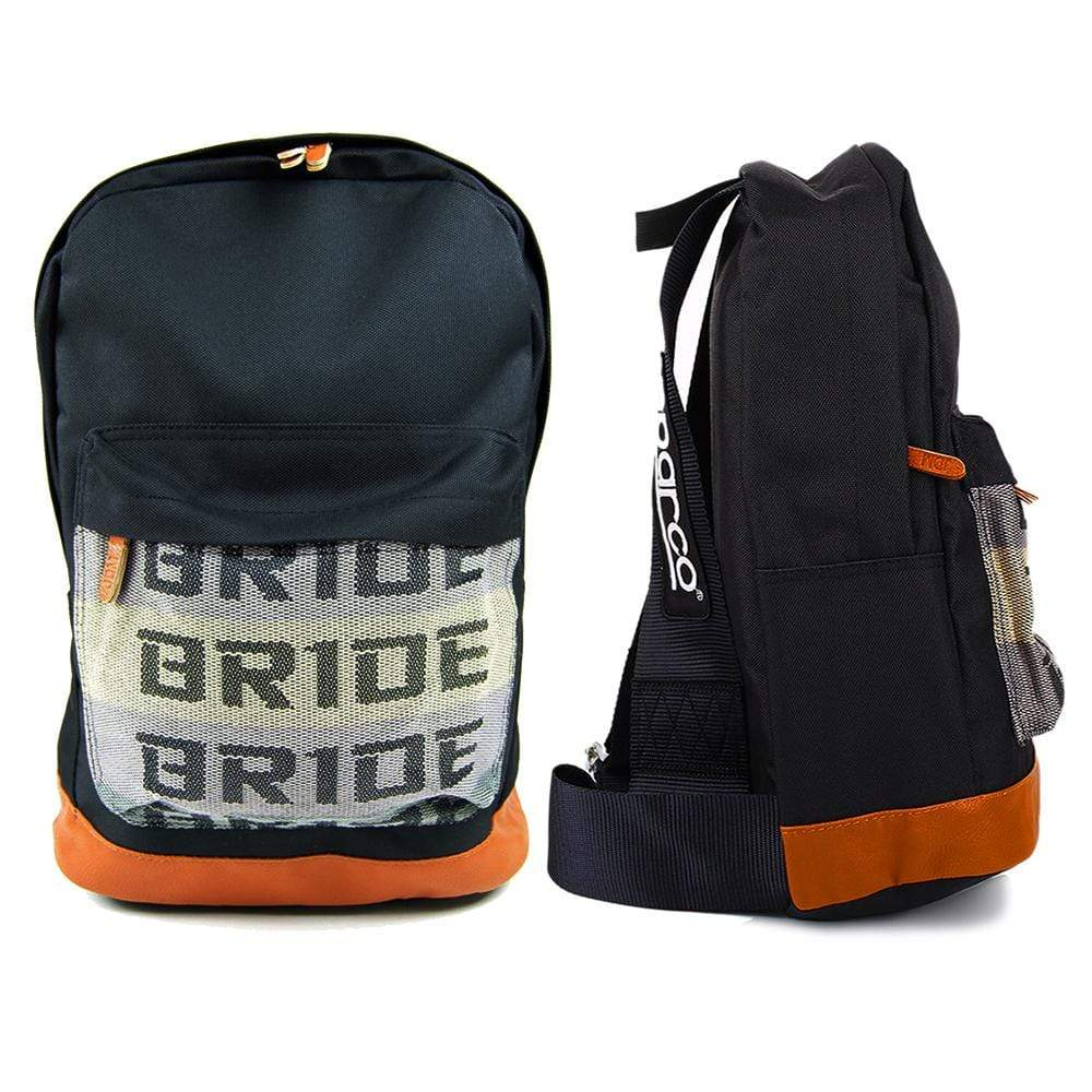 SP Backpack - Black Racing Harness Straps - jdm - bride - leather bottom