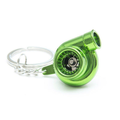 Turbocharger - Car Keychain - JDM Key Ring - Green