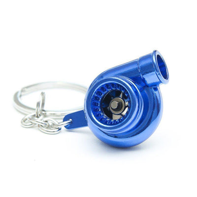 Turbocharger - Car Keychain - JDM Key Ring - Blue