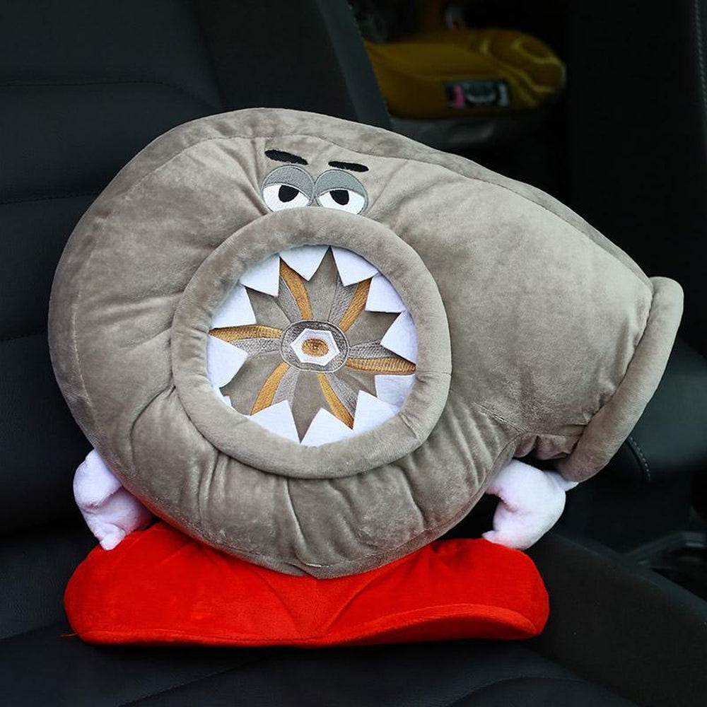 Turbocharger Car Plush Pillow Headrest Large. JDM Cushion.