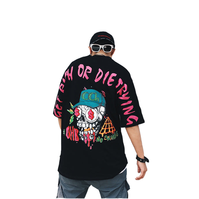 GoodFiller 'Get rich or die trying' Oversized Shirt