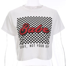 Goodfiller ''Babe'' Bauchfreies Shirt