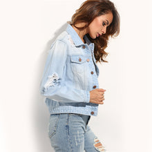 GoodFiller Ripped Denim Jeans Jacke