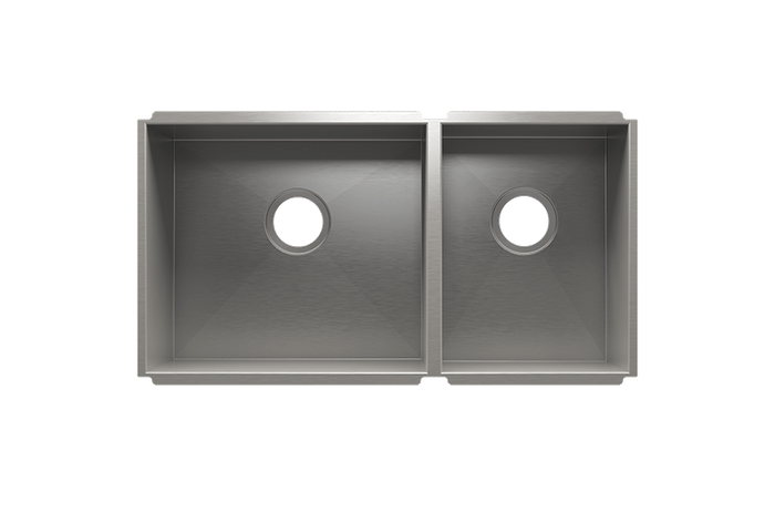 UrbanEdge Double Bowl Undermount Kitchen Sink and Accessories
