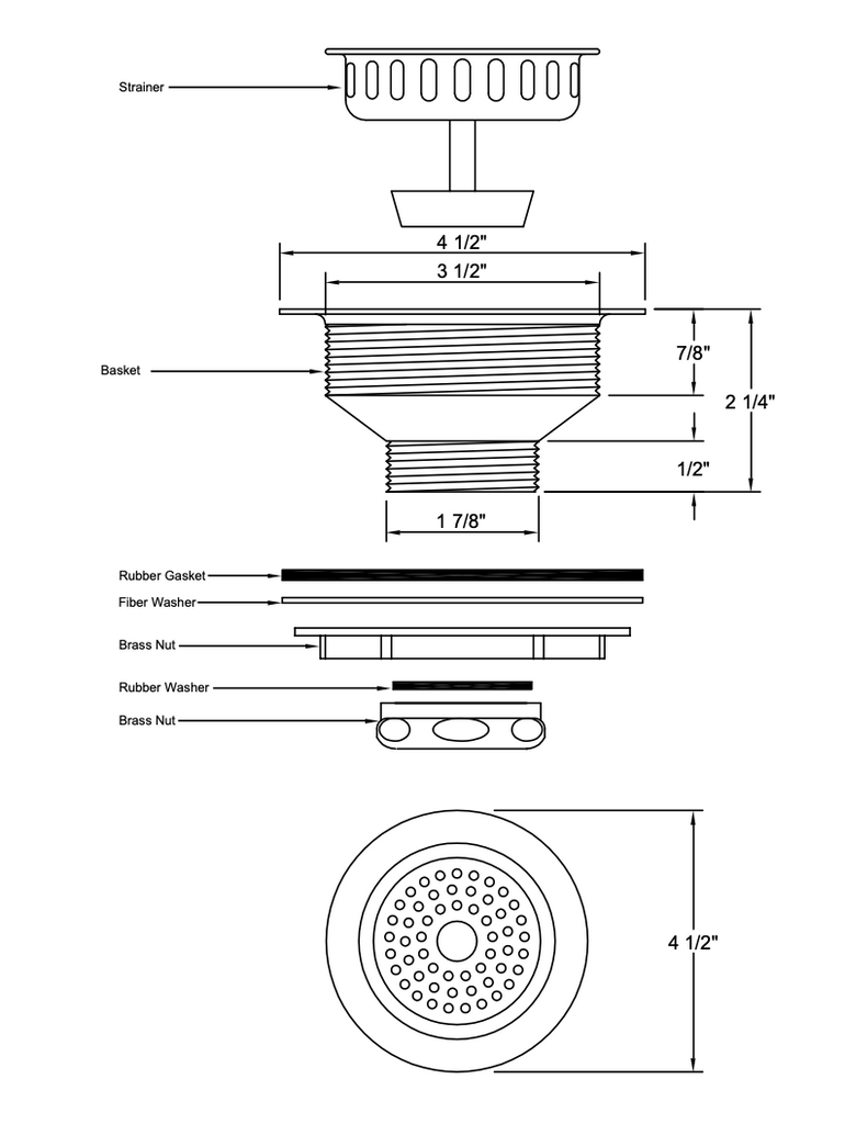 Heavy Duty Basket Strainer
