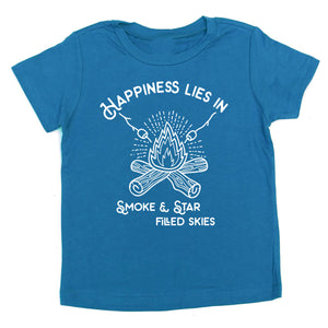 Happiness is a campfire  - kids tee