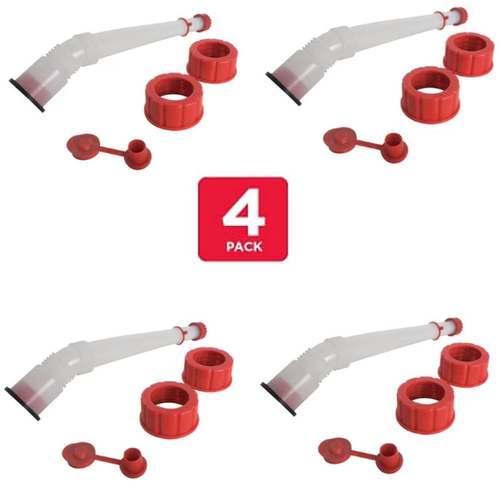 Replacement Gas Can Spout Nozzle Kit (4 Pack)