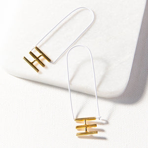 Elongated Rectangle Hoop With Brass Bars