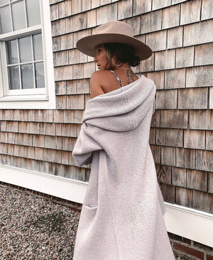 Lennox Oversized Sweater Coat Grey