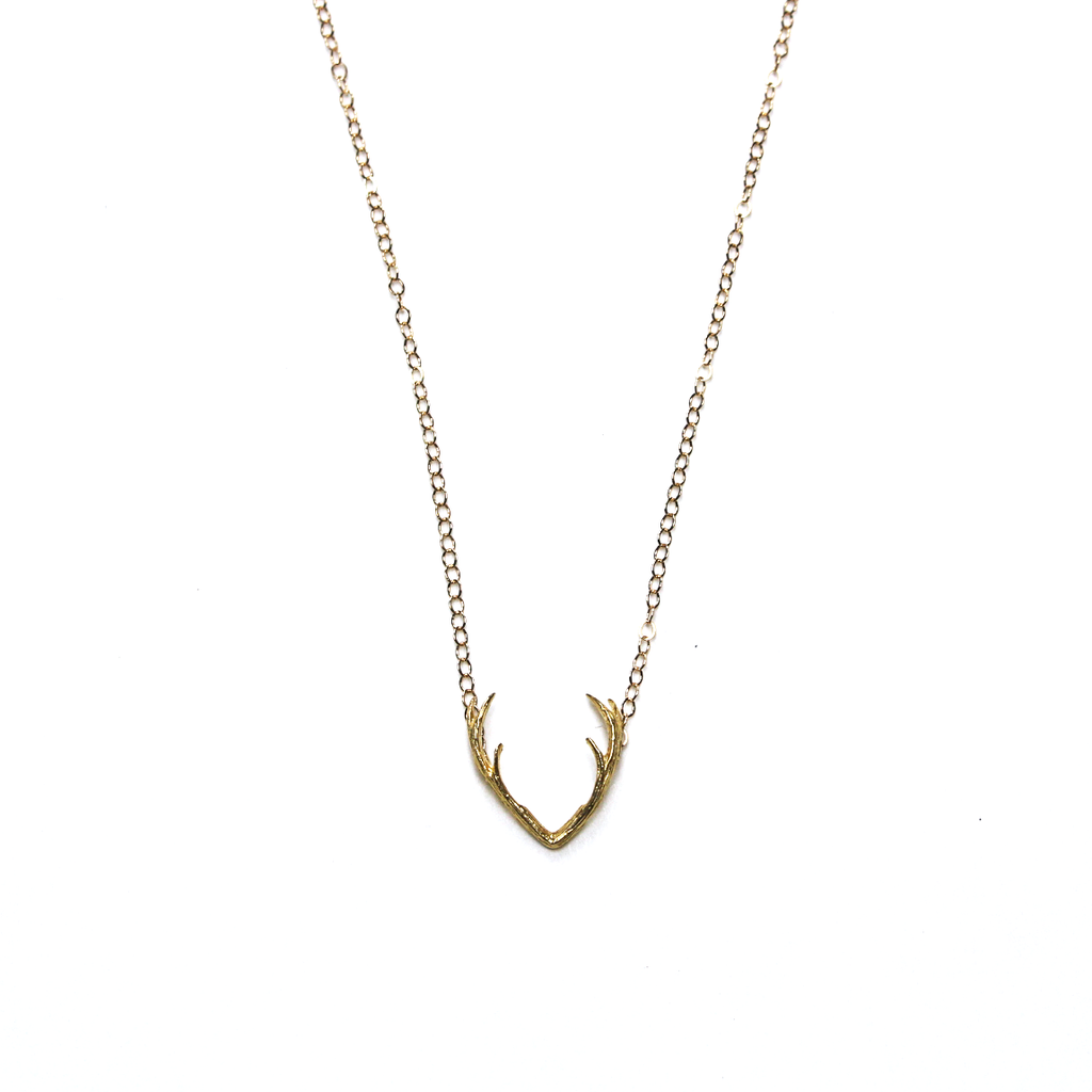 Fawn Gold Antler Necklace