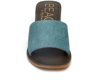 Havana Fur-On Slides Blue