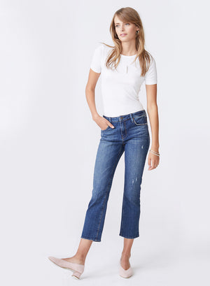 Margaux Cropped Demi Flare Blue