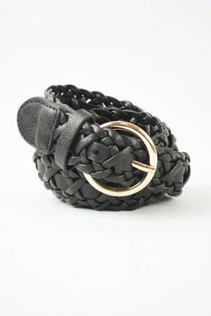 Twist Double Braided Belt Black