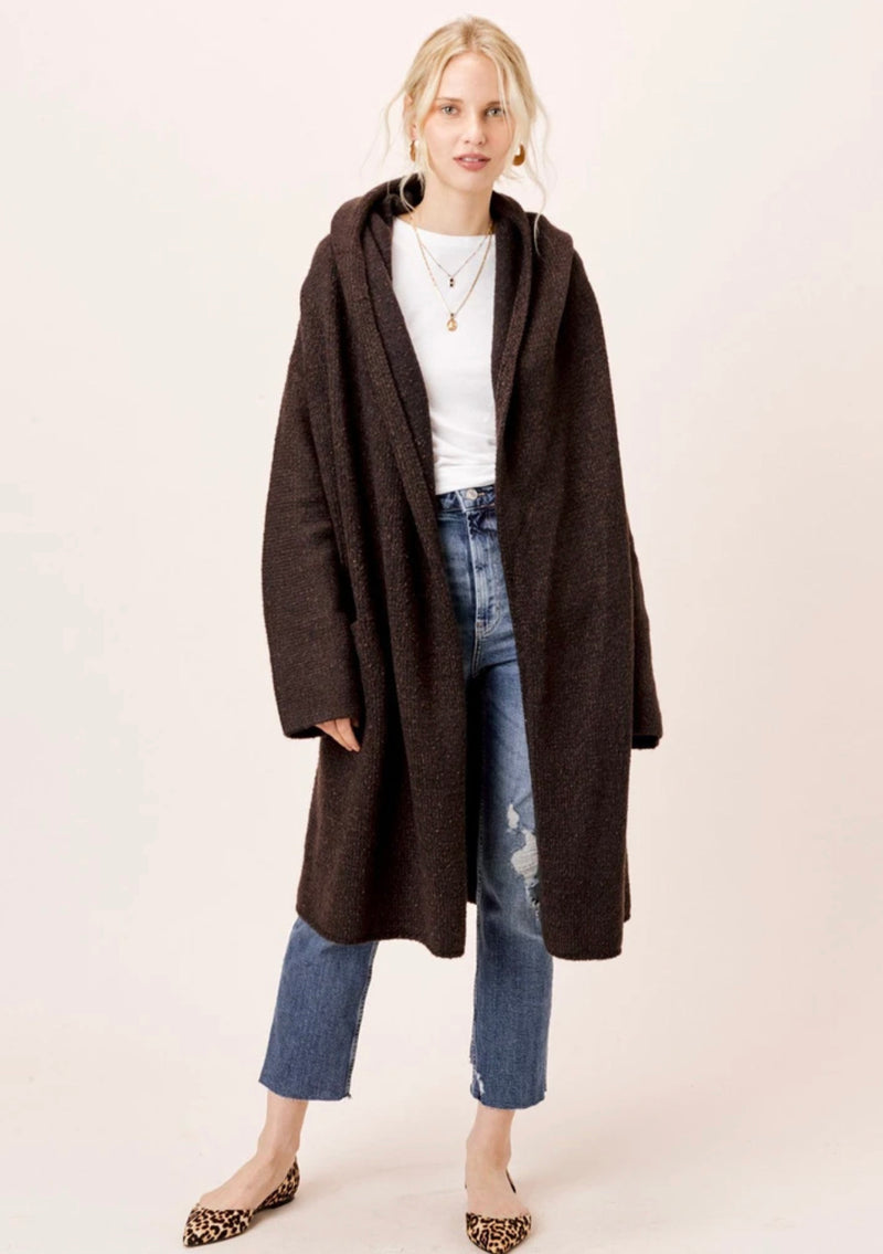 Lennox Oversized Sweater Coat Black