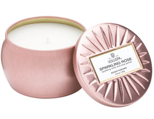 Sparkling Rose Petite Tin Candle
