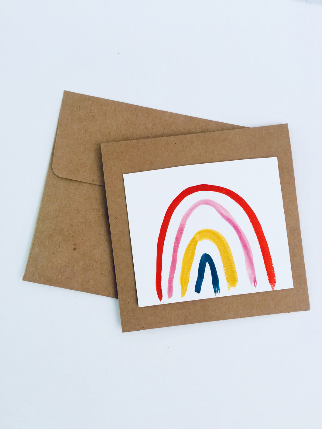 Hand Painted Rainbow Card