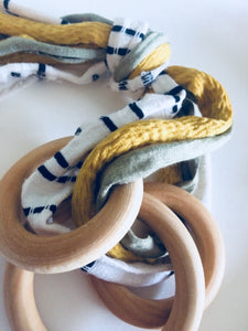 Daffodils and Spruce Rag Rattle