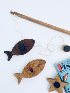 NEW Wooden Fishing Game