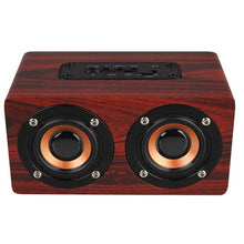 Dual Loudspeaker Wireless Bluetooth Speaker Retro Wooden Speakers Amplifier Support TF Card 3.5mm AUX for PC Phone