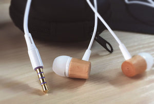 Wood Earphone HIFI Music Earphones With Mic In Ear Wired Earphone