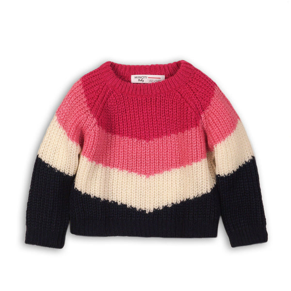 Minoti Color Block Sweater