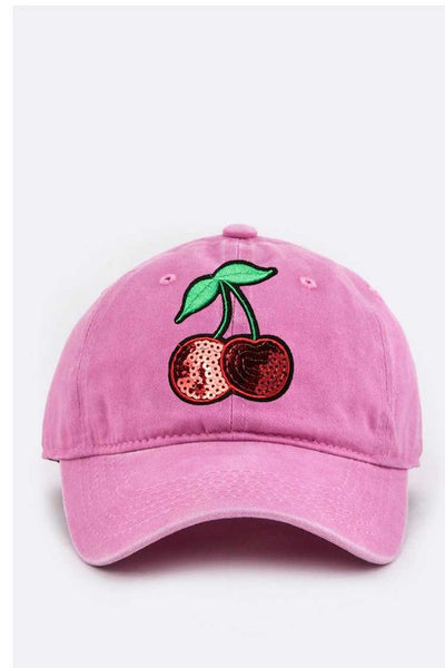 Cherry Sequins Cap